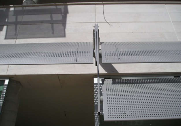 Perforated Aluminum Blades Gallery Sun Controlers